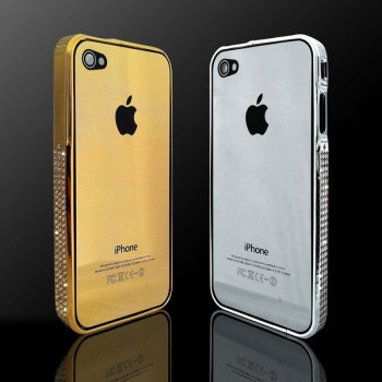 Gold-plated-back-plate-and-bumper-for-iPhone-4-4S