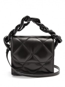 black-shoulder-marquesalmeida-womens-oversized-curb-chain-quilted-leather-shoulder-bag-black